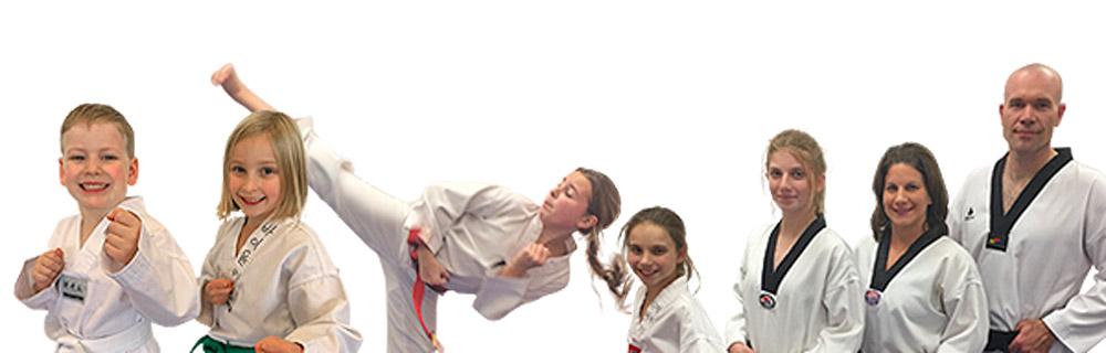 taekwondo students bottom banner image