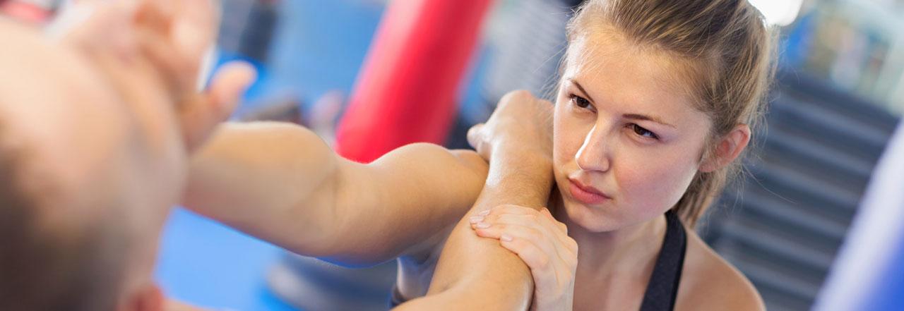 Taekwondo women's self-defense