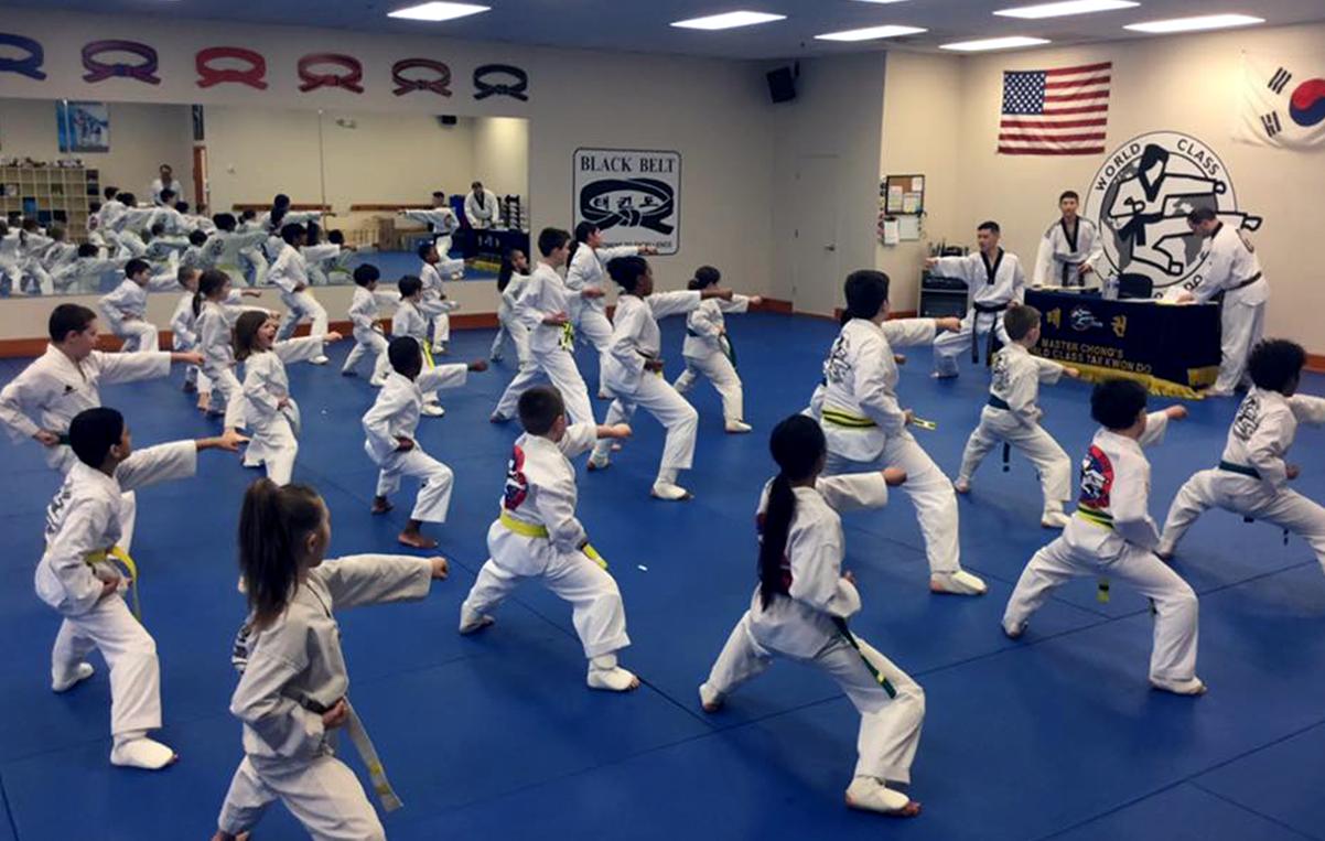 Family Classes Buffalo NY Taekwondo image of three students